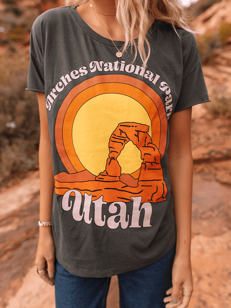Indy Brand Clothing TEE XS ARCHES NATIONAL PARK TEE