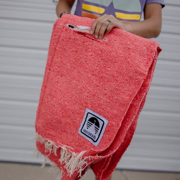 CORAL WEEKEND WARRIOR BLANKET