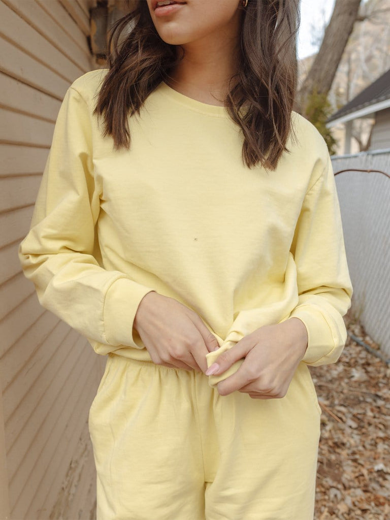 Indy Brand SWEATSHIRT LEMON COLOR SET TOP