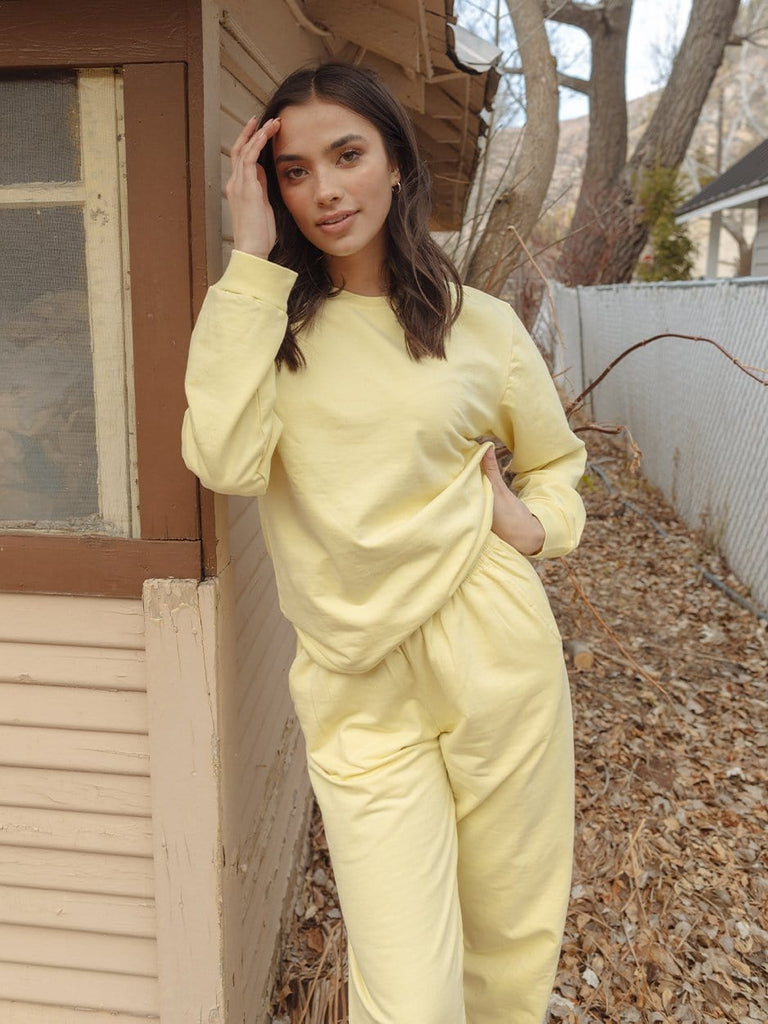 Indy Brand SWEATSHIRT XS LEMON COLOR SET TOP