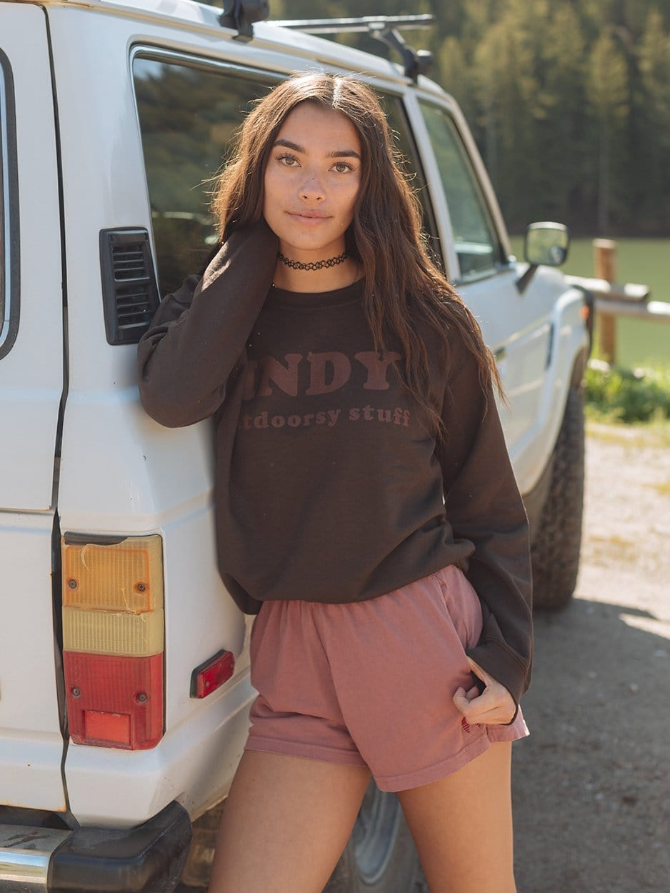 LOGO SWEATSHIRT BROWN