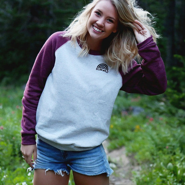 RUN WILD BASEBALL SWEATSHIRT