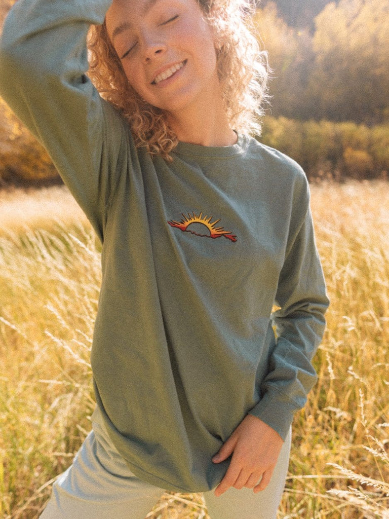 Sunset Embroidery Long Sleeve