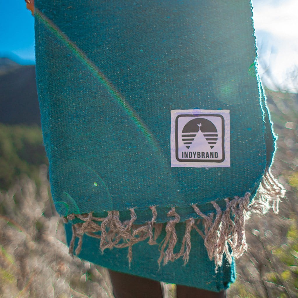 TEAL SOLID COLOR INDY BLANKET
