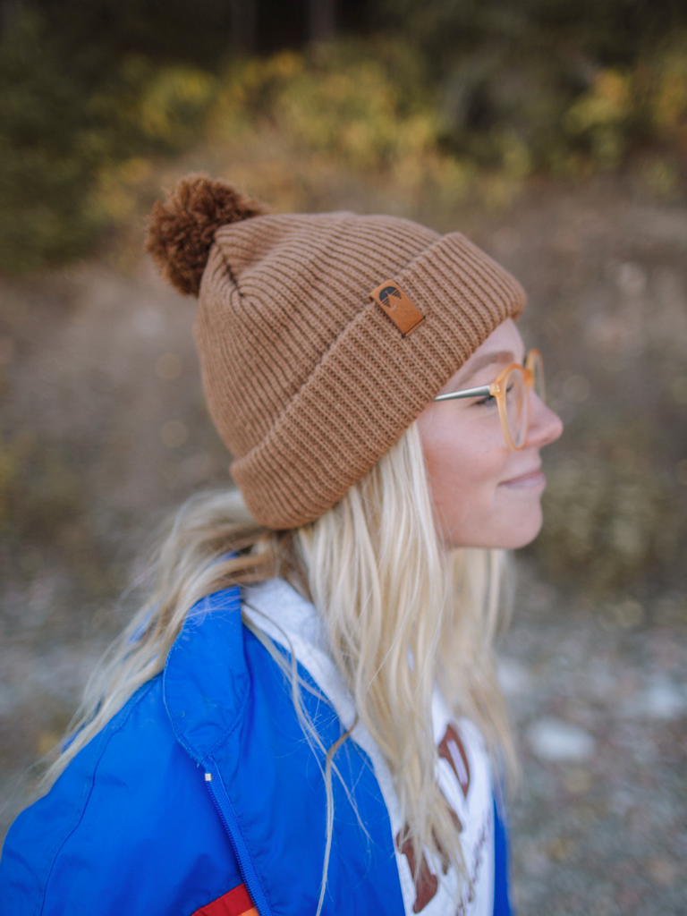 Indy Brand HATS BROWN BROWN POM BEANIE