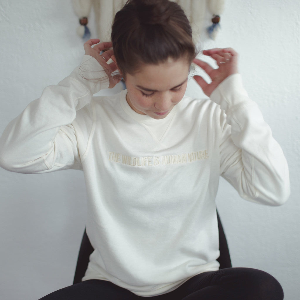 THE 'HUMAN NATURE' EMBROIDERY SWEATSHIRT