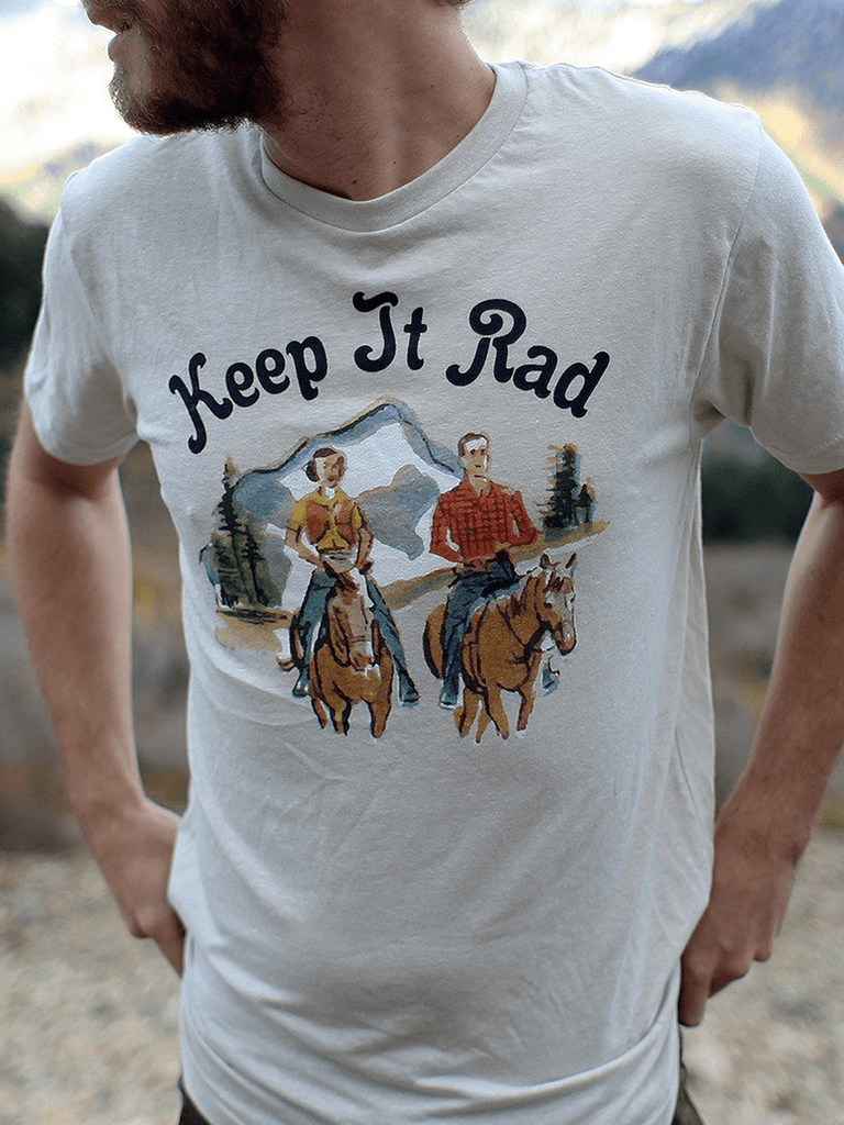 Indy Brand MENS S / STONE MENS KEEP IT RAD TEE