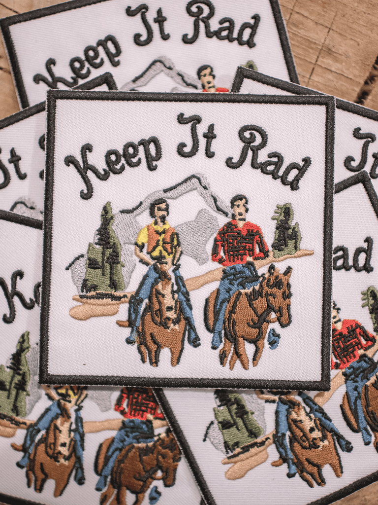 Indy Brand STUFF 'KEEP IT RAD THROWBACK' PATCH