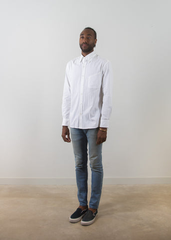 Grandad-Collar Shirt - White