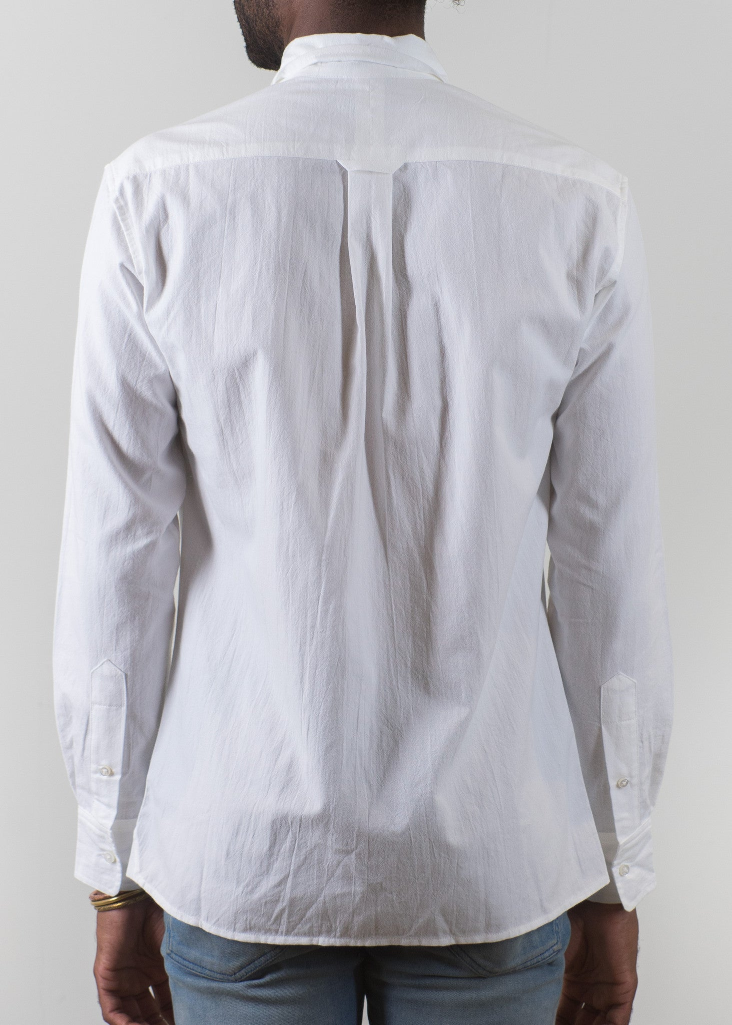 Button Down Collar Shirt - White - New Union Clothing