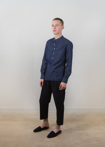 Cutaway Collar Popover Shirt - Light Chambray
