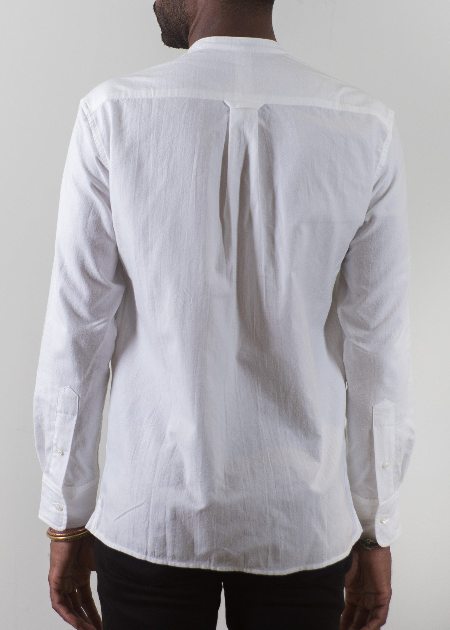 Grandad-Collar Shirt - White - New Union Clothing