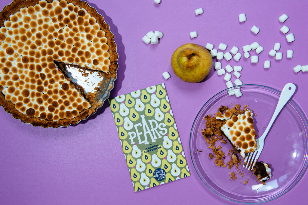 Recipe: Chocolate Pear Pie with Graham Cracker Crust & Burnt Marshmallows