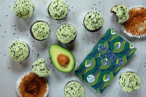 Recipe: Black Sesame Cupcakes with Avocado–Cream Cheese Frosting