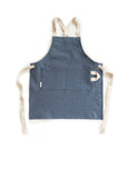 The Kids Herringbone Denim Apron