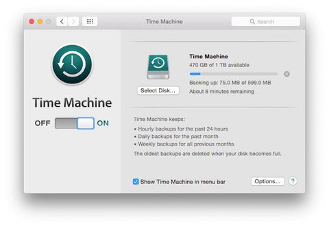 Time Machine Backup Progress