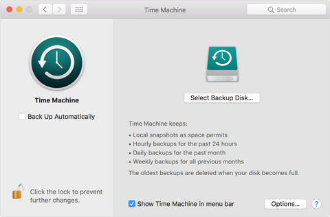 Setting Up a Drive for Time Machine
