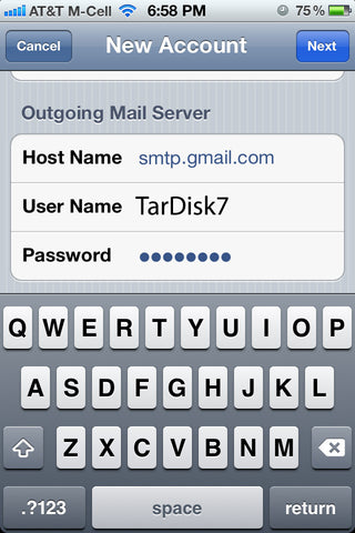 TarDisk iPhone Send Mail As iPhone