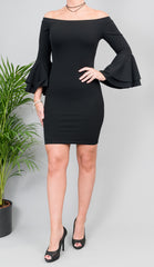 Black Blair Midi Dress