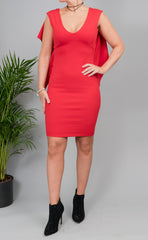 'Bonnie' Dress in Red