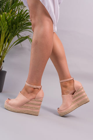 Natalia Faux Suede Wedges