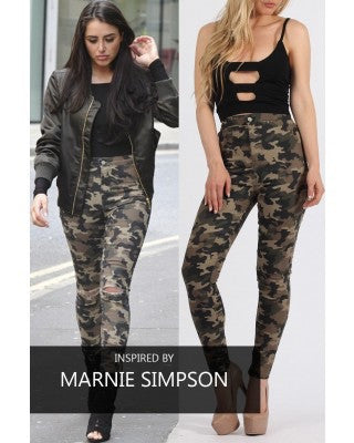 Camouflage Stretch Skinny Jeggings
