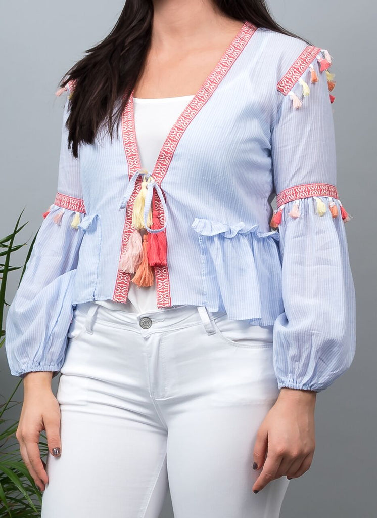 Mila Top Light Blue