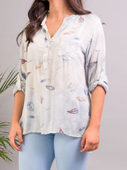Tilly Patterned Shirt Grey