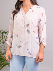 Tilly Patterned Shirt Pink