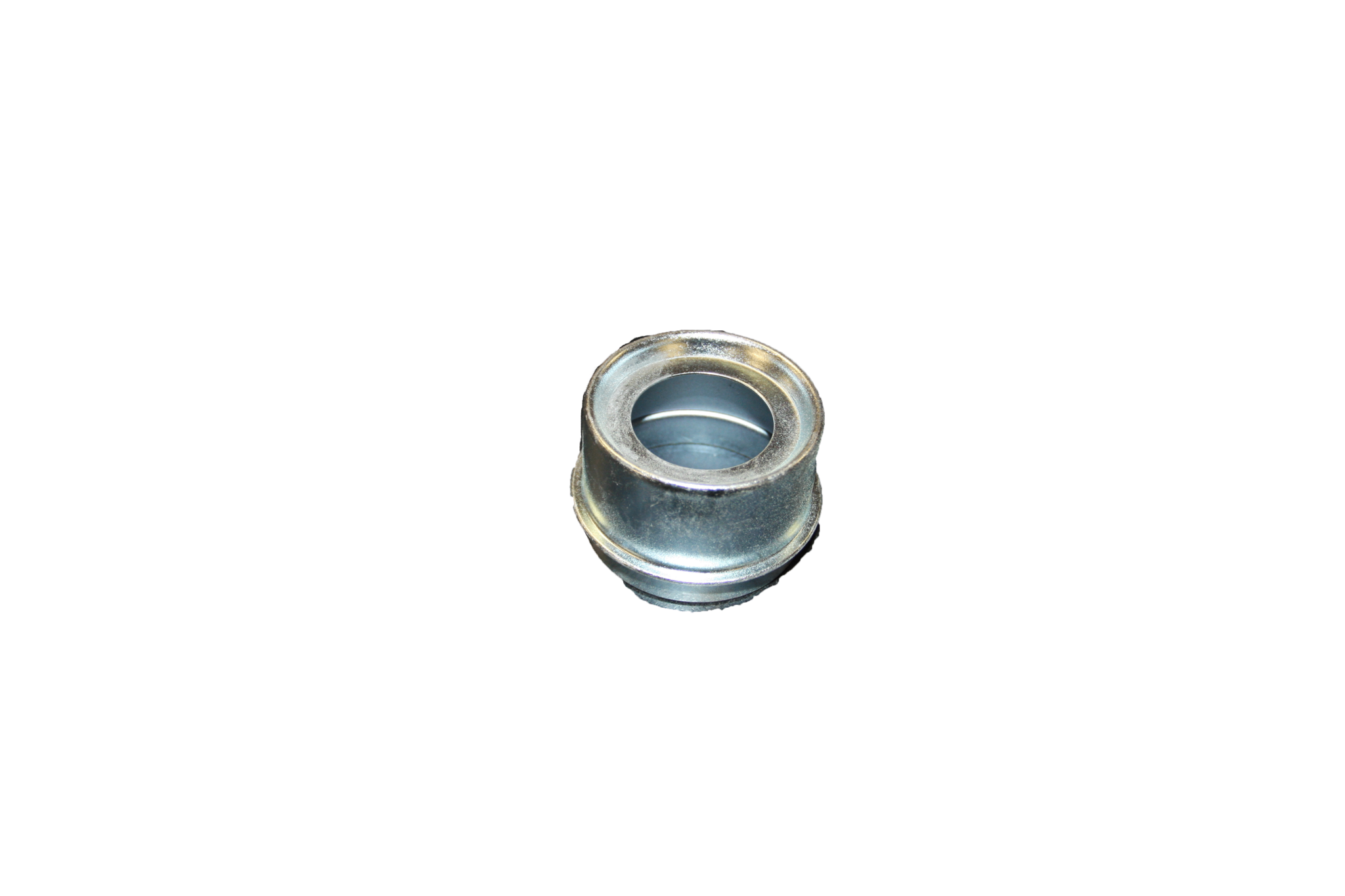 Axle Metal Grease Cap with Rubber Plug