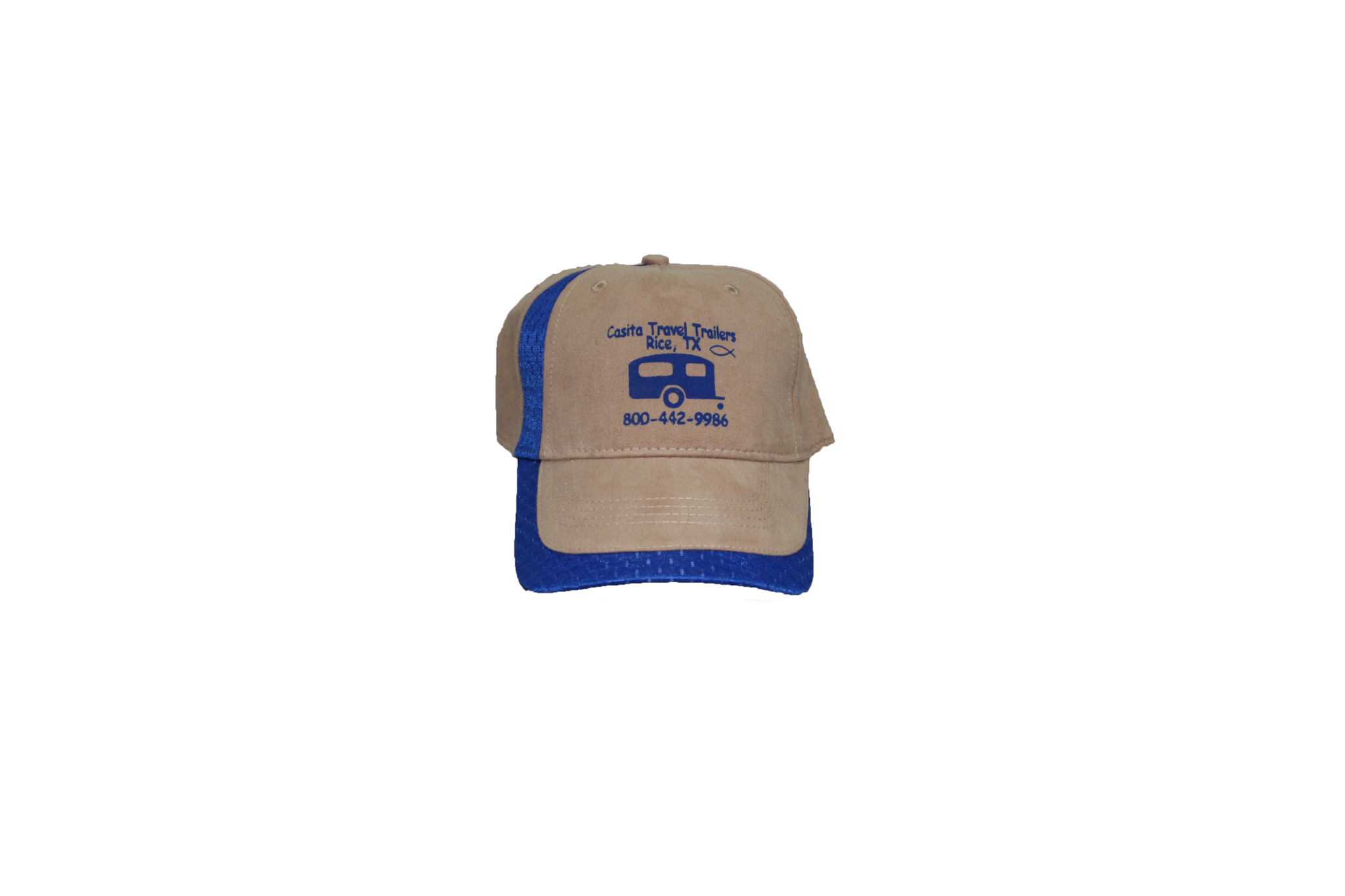 Tan & Blue Casita Hat