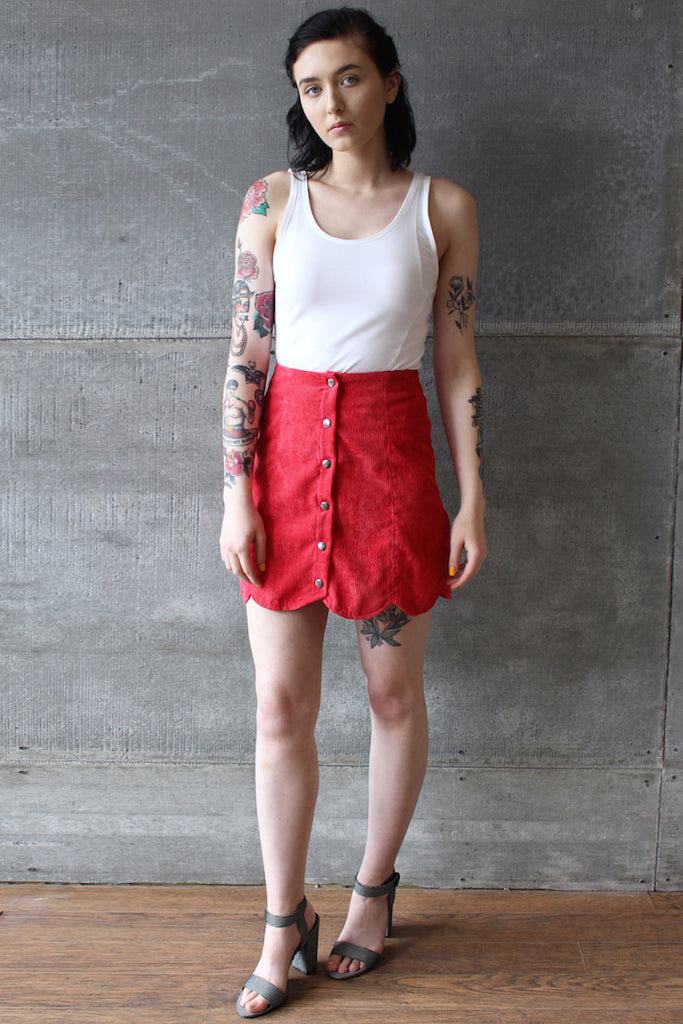 The Fifth Central Skirt Red