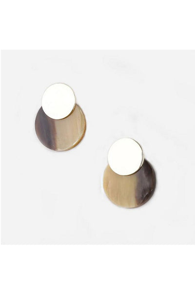 Contrast Coin Stud Natural