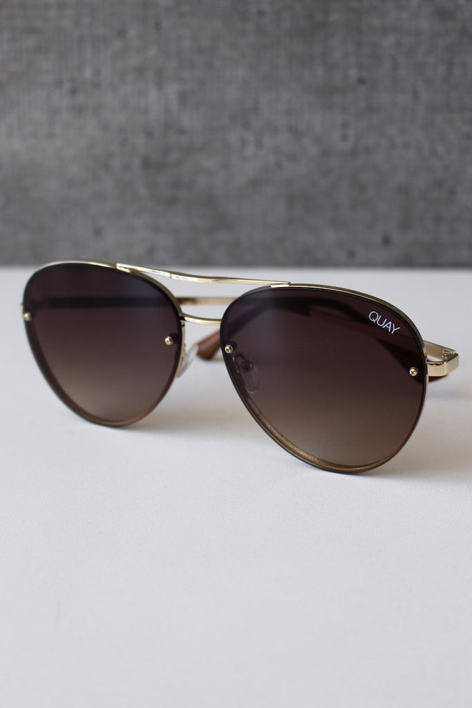 Cool Innit Sunglasses Gold/Brown