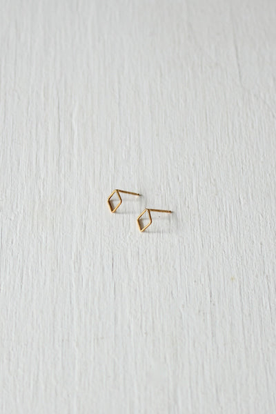 Square Studs Gold