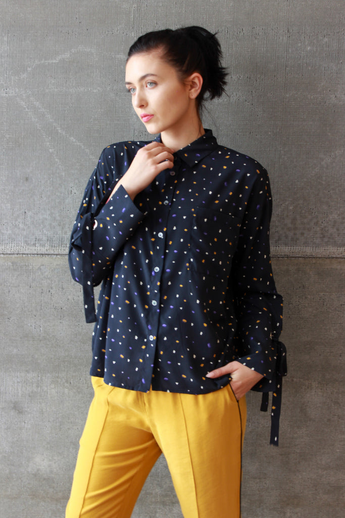 Abstract Dot Blouse Multi