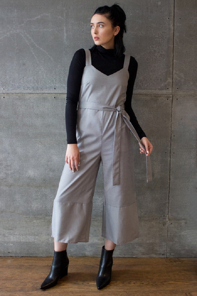 Naples V-Neck Jumpsuit Houndstooth