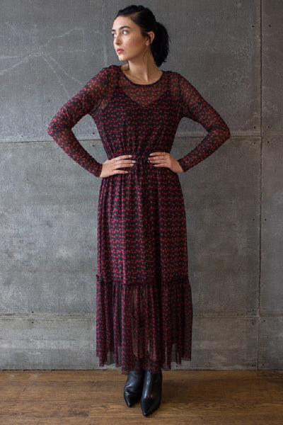 Alley Maxi Dress Tiny Rose AOP