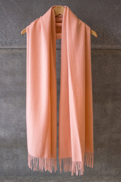 Wool Scarf Peach