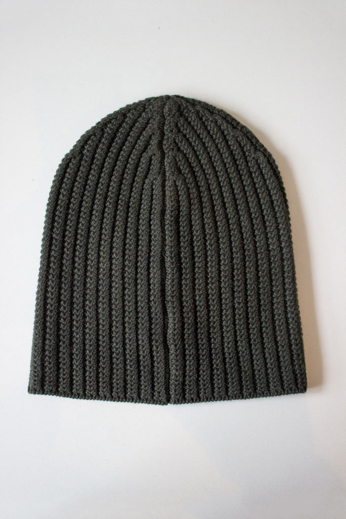 Wool Cashmere Beanie Olive