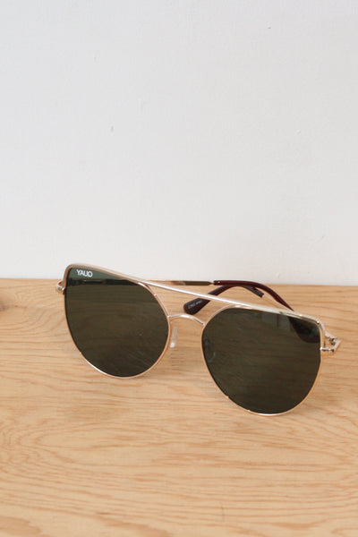 Santa Fe Sunglasses Gold/Green