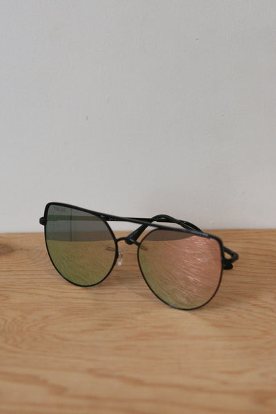 Santa Fe Sunglasses Black/Red