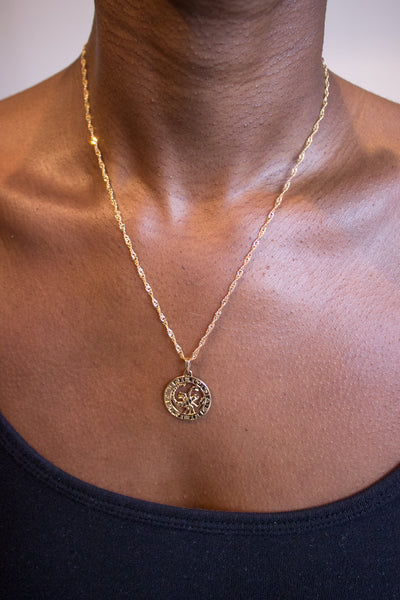 Scorpio Zodiac Necklace Gold