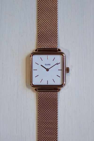 La Garconne Mesh Rose Gold/White