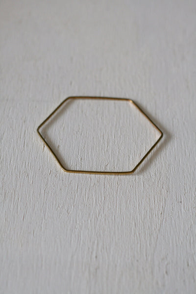 Hex Bangle Brass