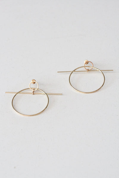 Toggle Earrings Gold