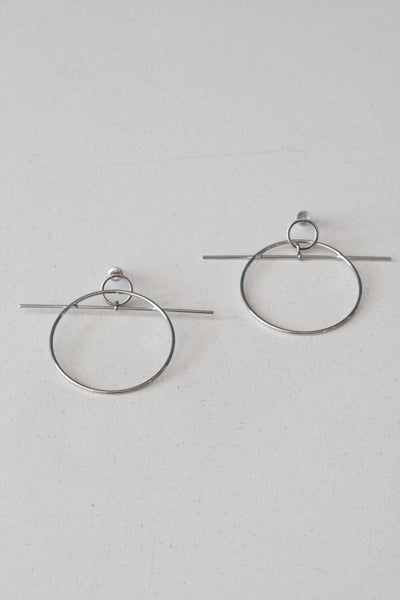 Toggle Earrings Silver