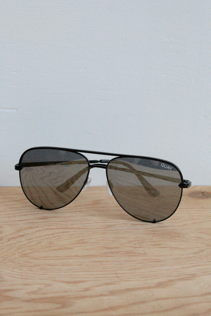 High Key Sunglasses Black/Silver