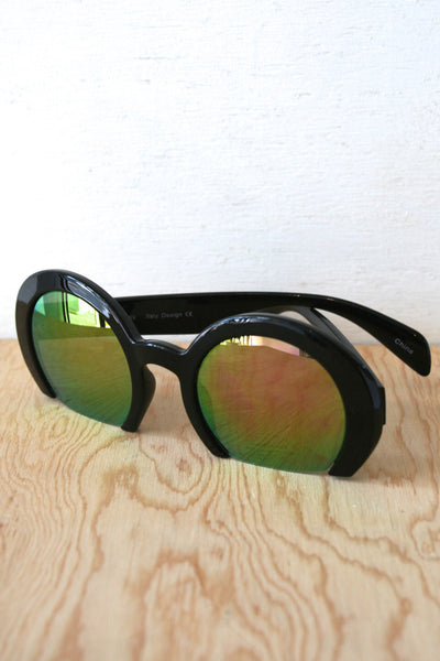 Zoe Sunglasses Black/Yellow