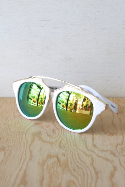 Lexi Sunglasses White/Yellow